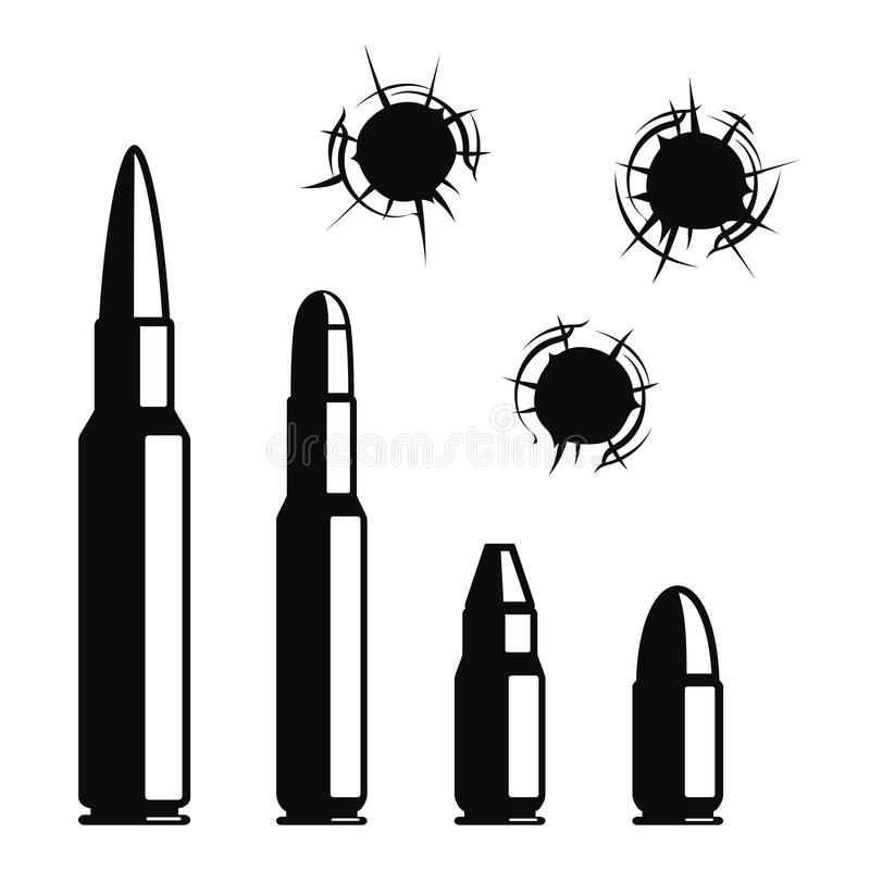 Vector bullet holes stock vector. Illustration of