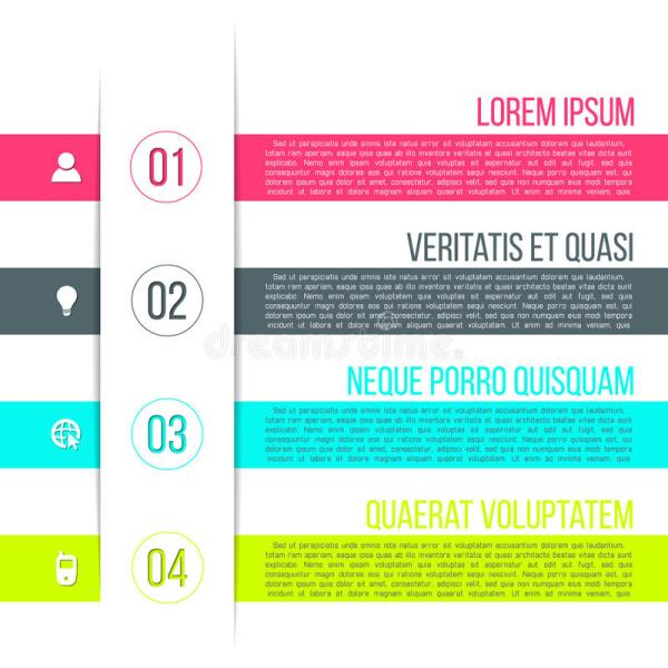 Vector Business Process Steps Infographic Template Stock