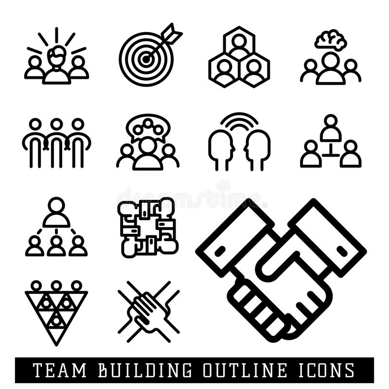 Vector Illustration Business Team Building People Concept
