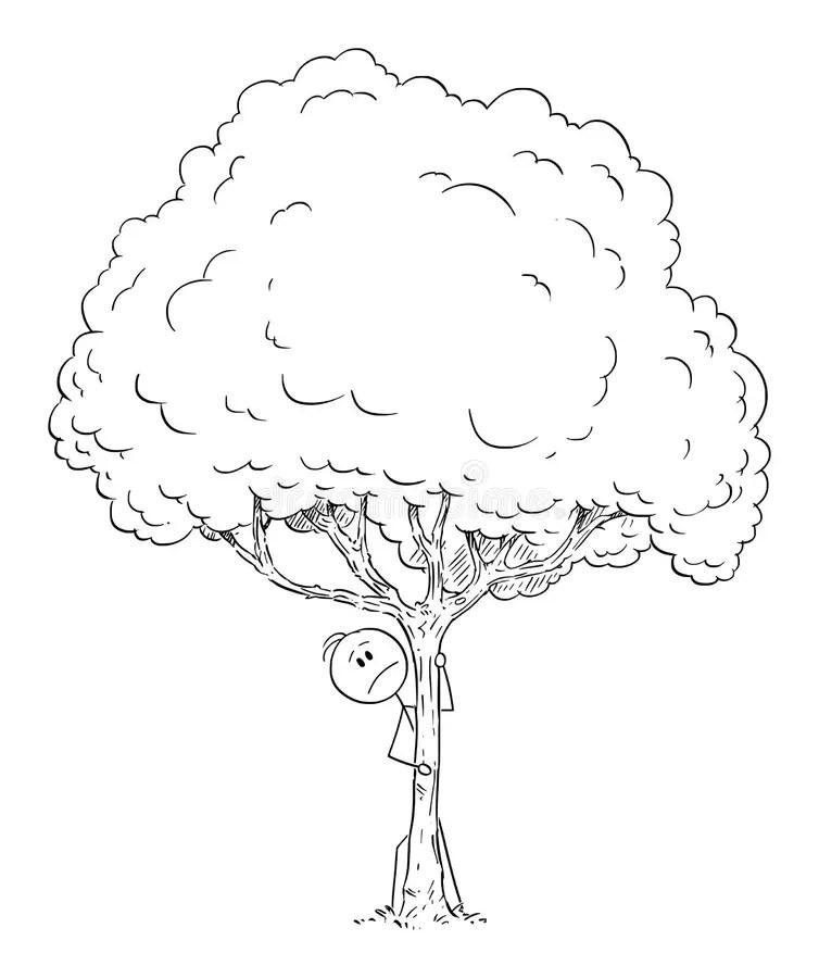 Cartoon man worried vector stock vector. Illustration of
