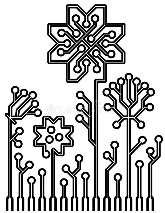 royalty stock image circuit board design