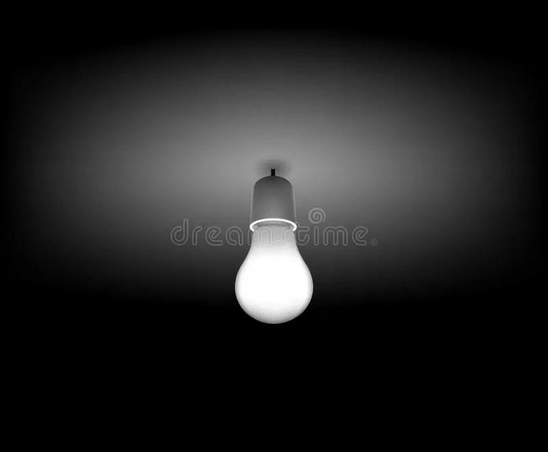 vector classic light bulb on the dark