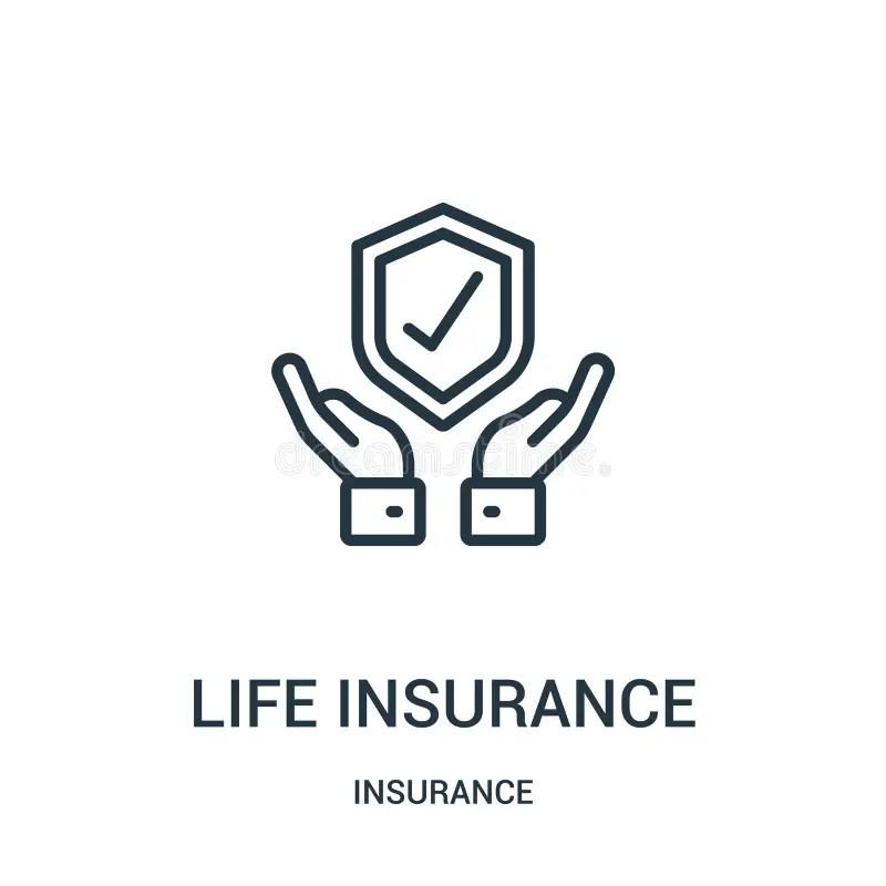 Consigue tranquilidad para ti y tu familia con un seguro de vida econ´ómico. Vector Del Icono Del Seguro De Vida De La Colecci?n Del