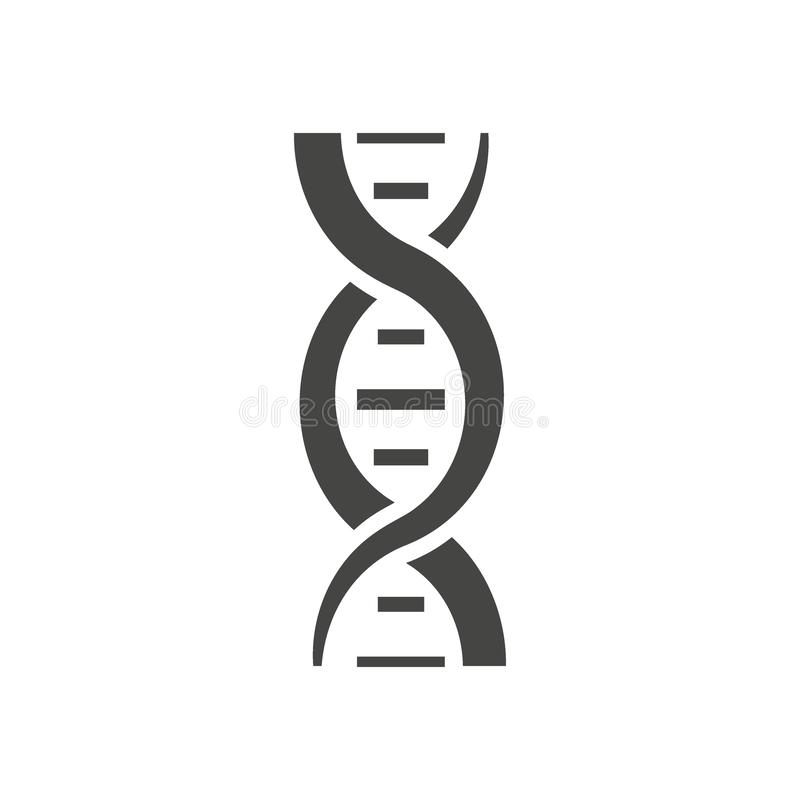 Chromosome. DNA Spiral. Genome Stock Illustration