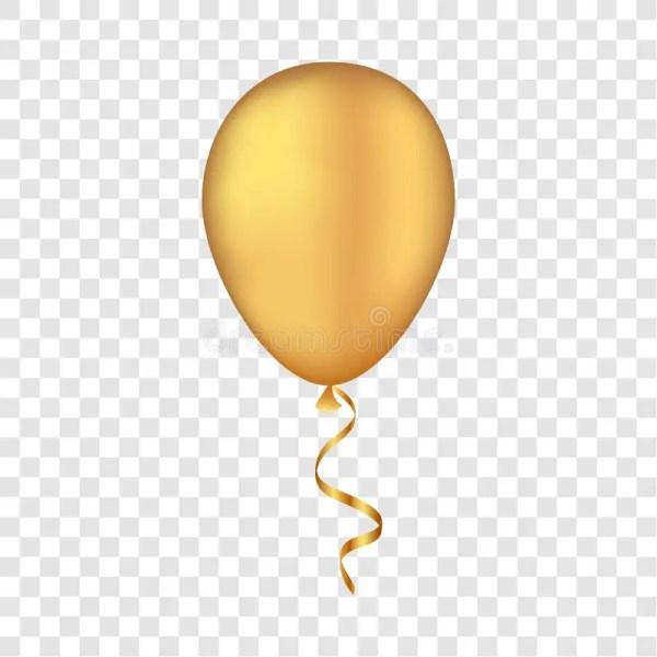 vector gold balloon transparent