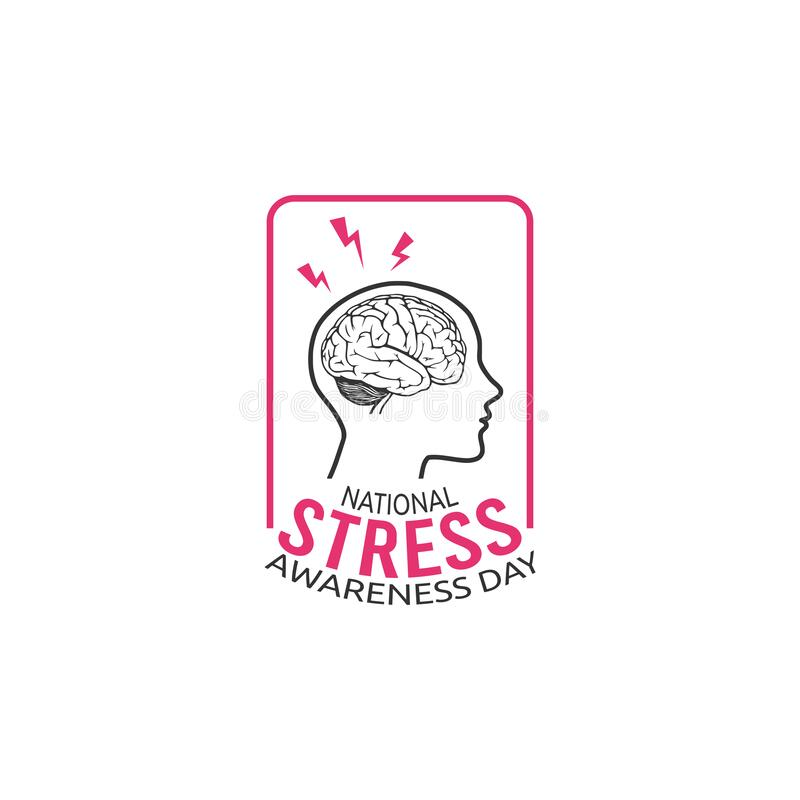 National Stress Awareness Day. Holiday Concept. Template