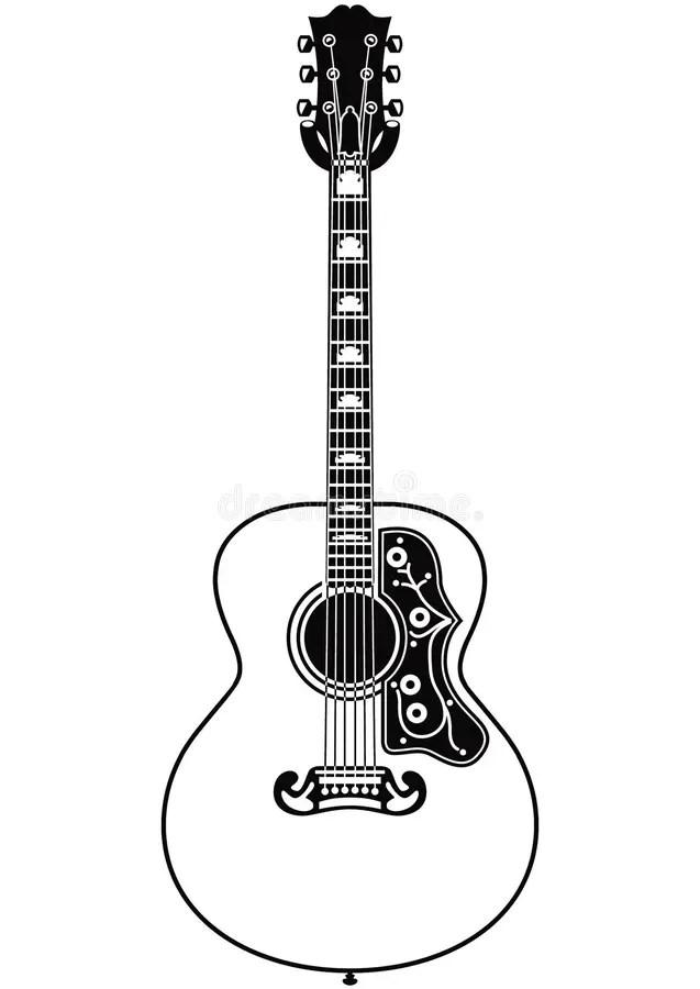 Vector guitar stock illustration. Illustration of white