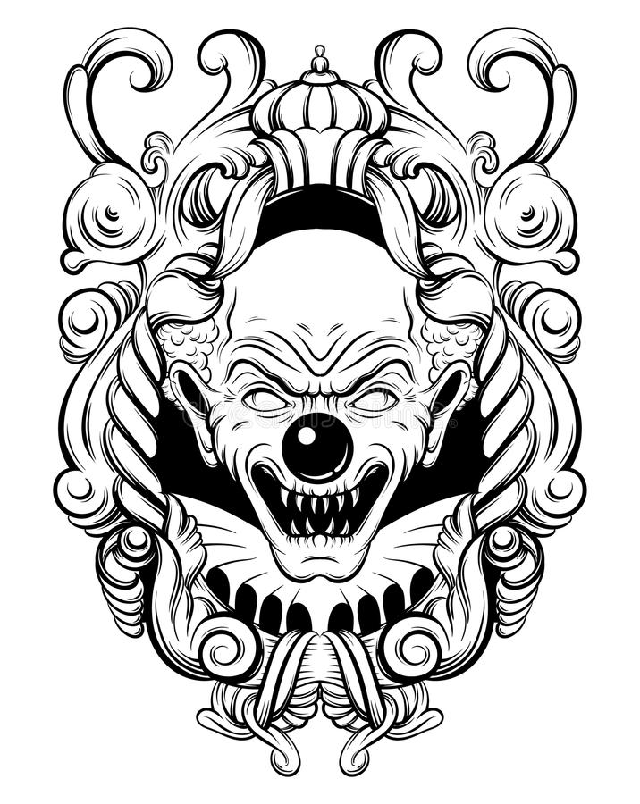 Angry Clown Stock Illustrations