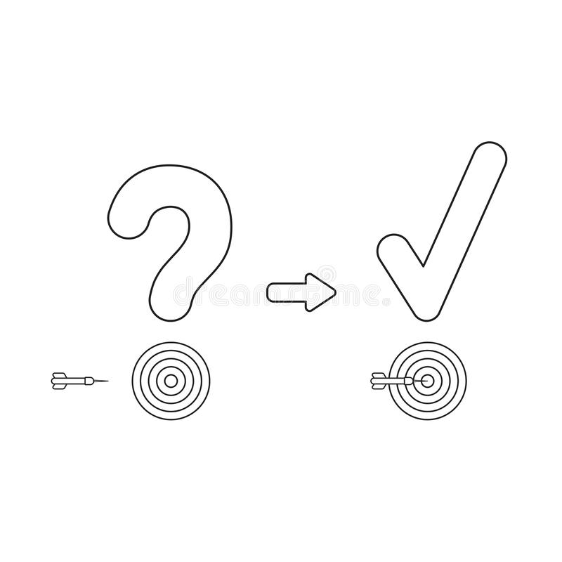 Vector Icon Concept Of Question Mark And Check Mark With