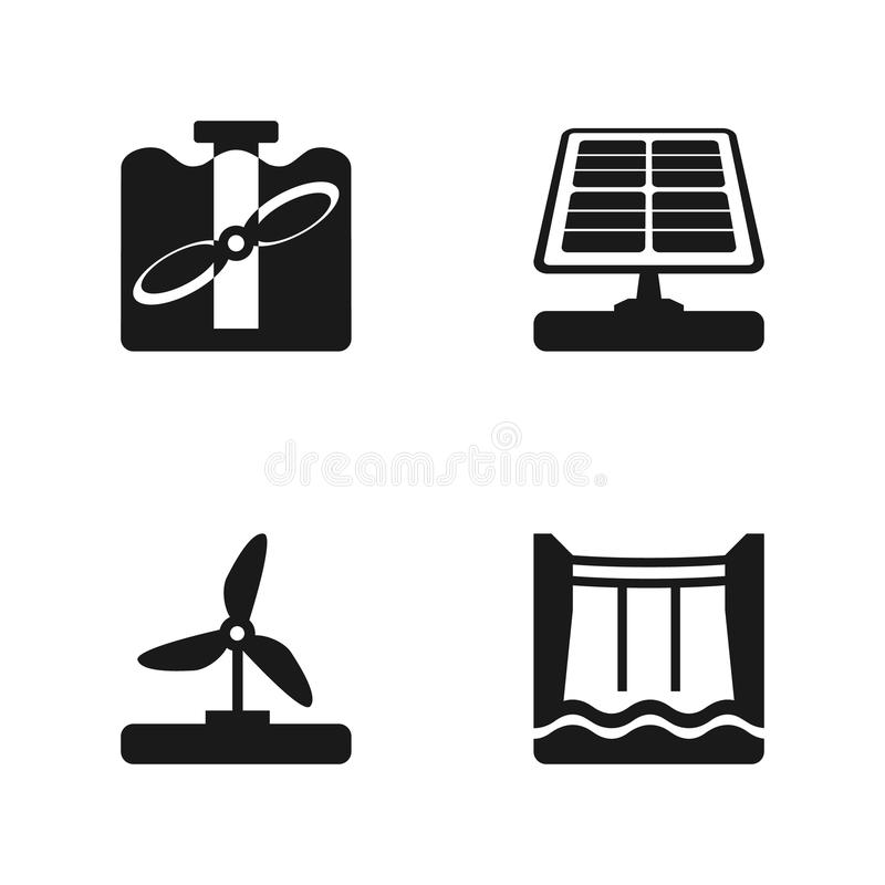 Hydroelectricity Stock Illustrations