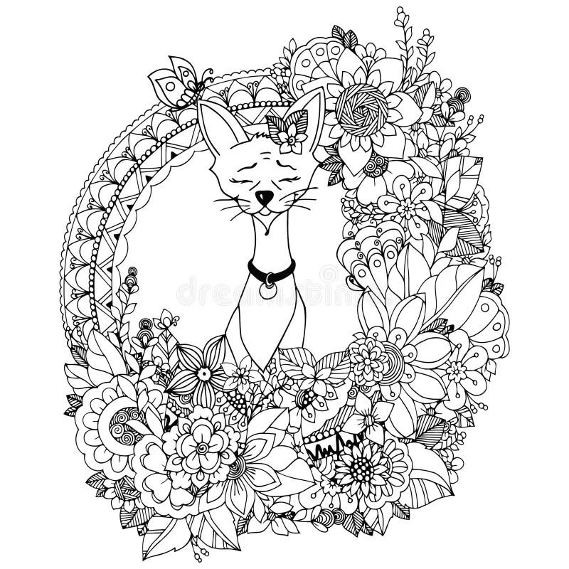 Illustration Blank Floral Frame