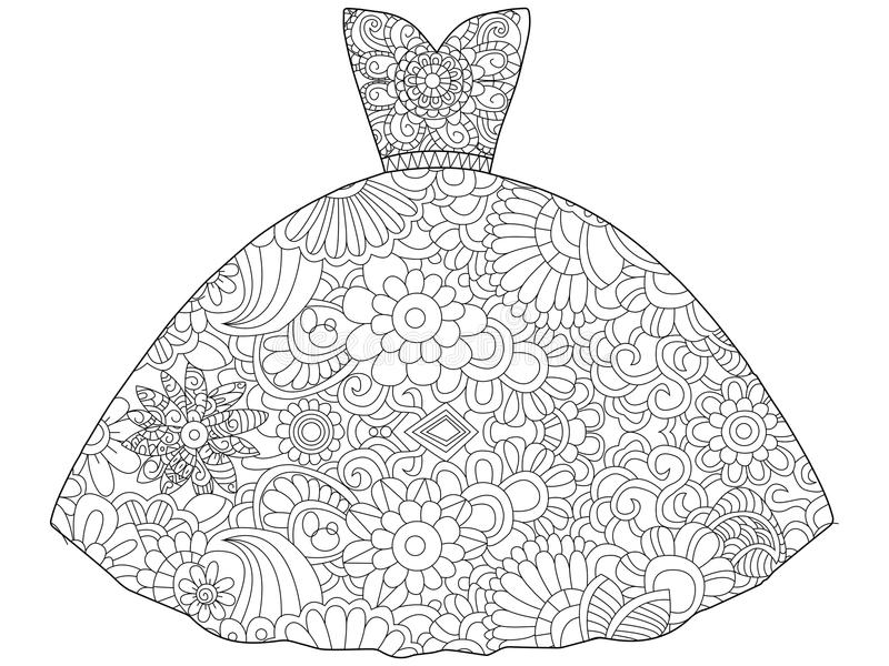 Princess dress stock vector. Illustration of crown, small