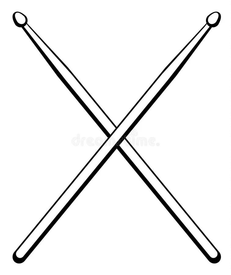 Vector Illustration Drumsticks. Music Instrument. Stock