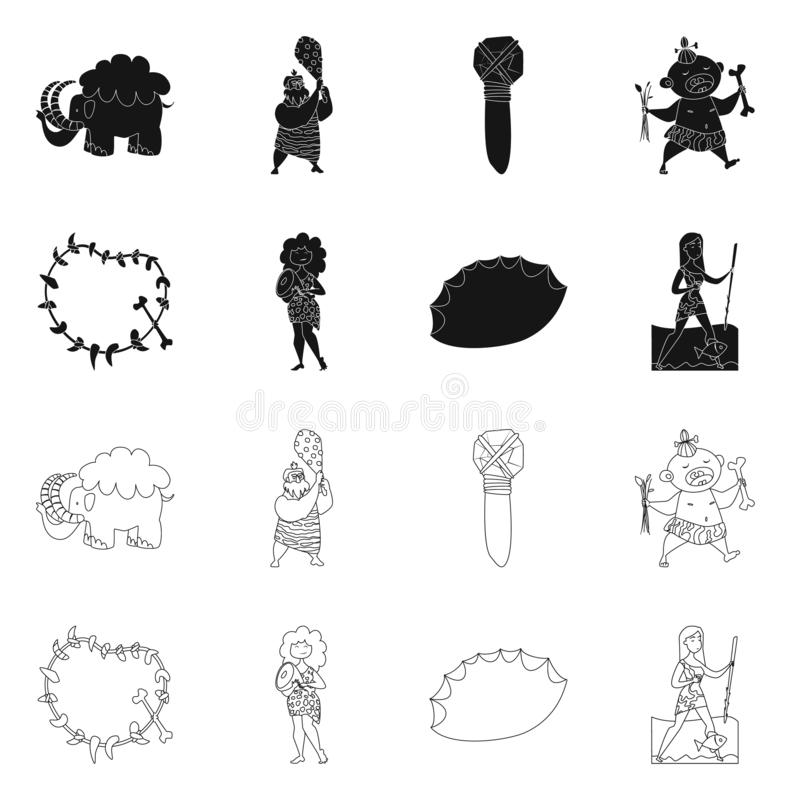 Vector Design Of Evolution And Prehistory Sign. Collection