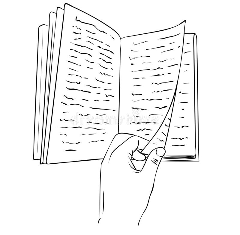 Retro cartoon manual book stock vector. Illustration of