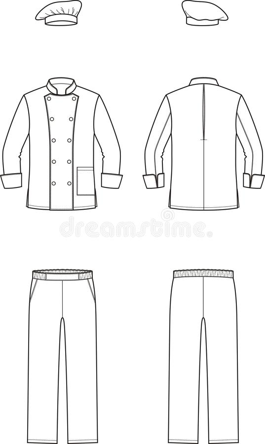 Culinary suit stock vector. Illustration of model, male