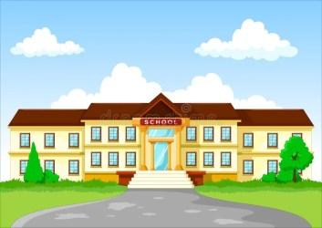 cartoon building background illustration vector grade preview