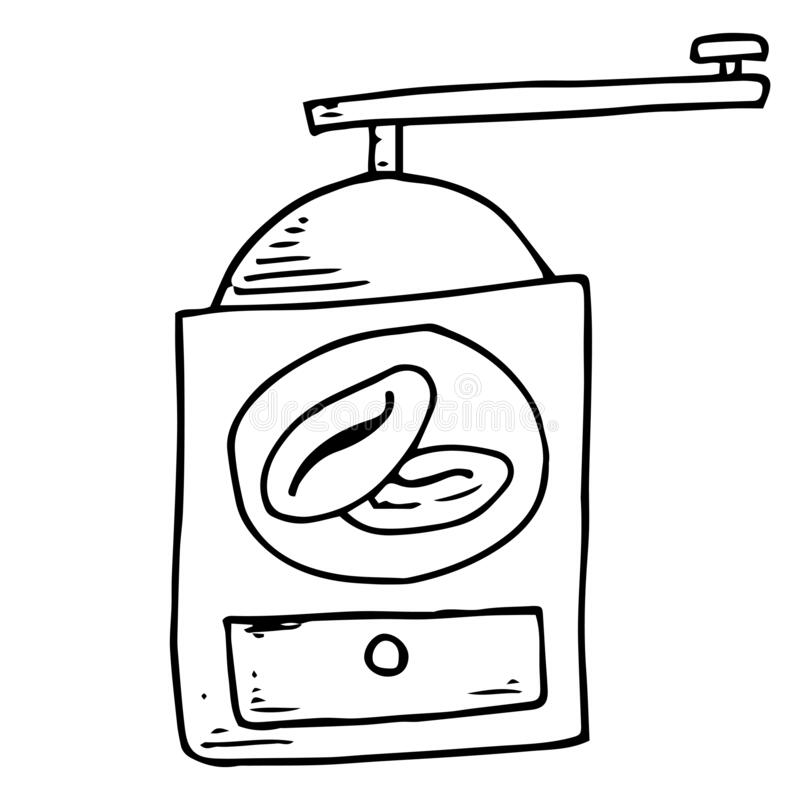 Coffee Grinder. Vector Drawing Icon Stock Vector