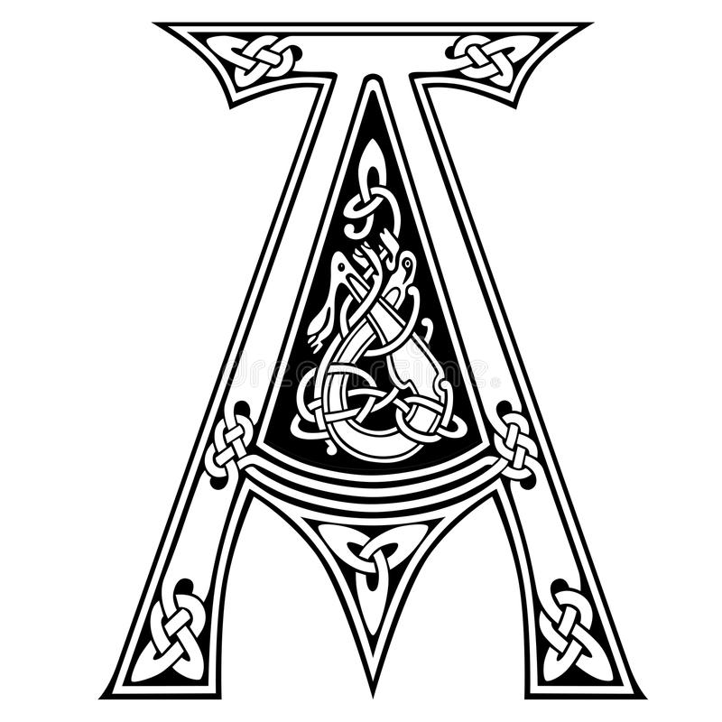 Illuminated Irish Letters Pages Coloring Pages