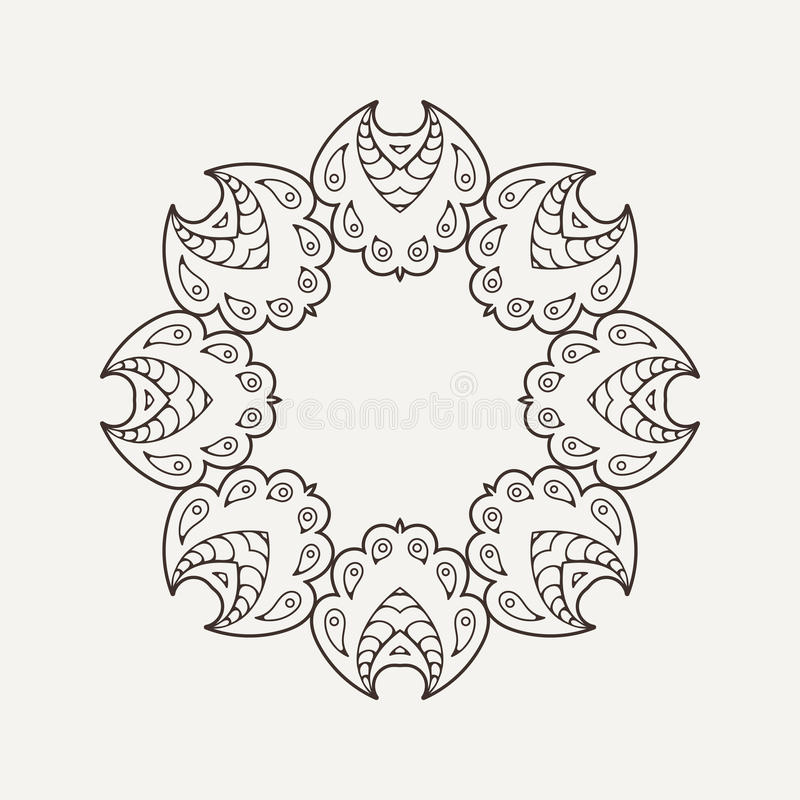 Vector Circular Pattern In The Style Of The Aztec Stock