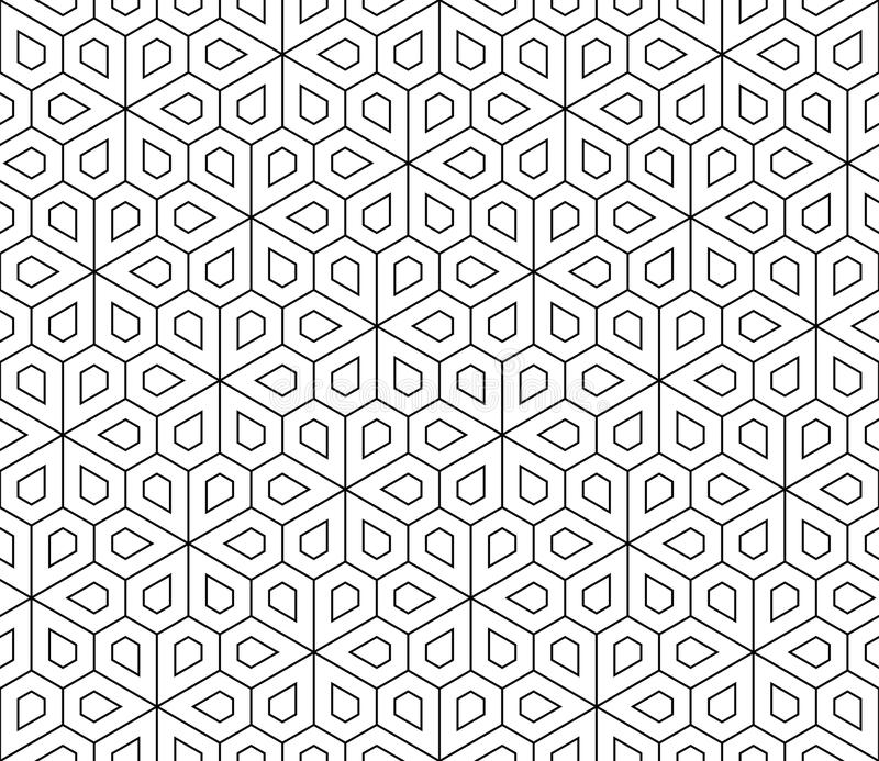 Vector Modern Seamless Geometry Pattern Flower Stock