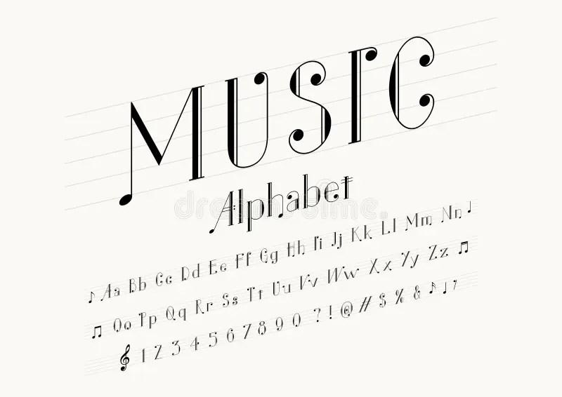 Music font stock vector. Illustration of letter, design