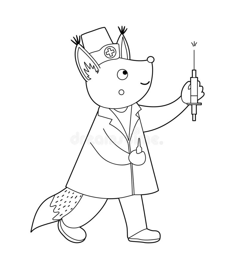 Nurse Coloring Stock Illustrations
