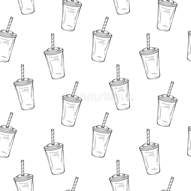Food and drink theme art stock vector. Illustration of