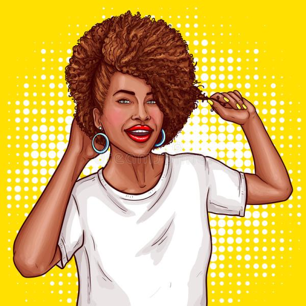 Pop Art Woman African American Afro