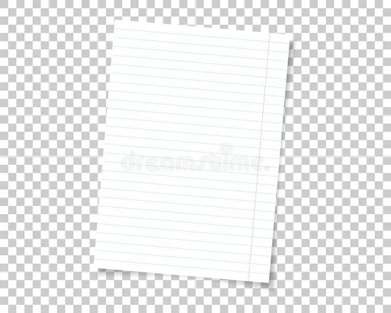 Sheet Of Paper School Notebook In Lines Vertical