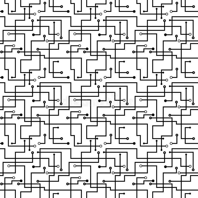 seamless pattern computer circuit board design