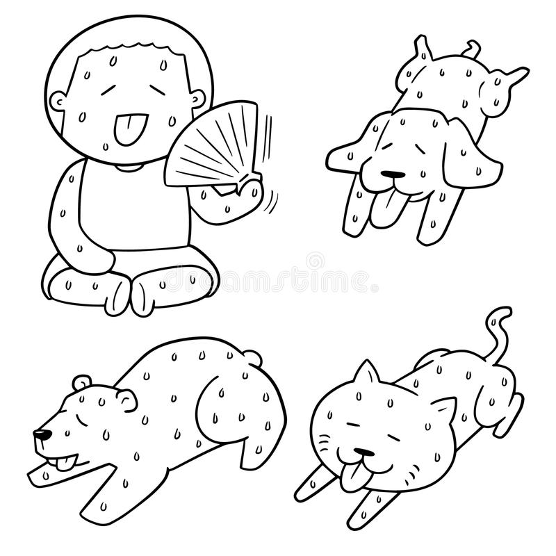 Cartoon Hot Weather Stock Illustrations
