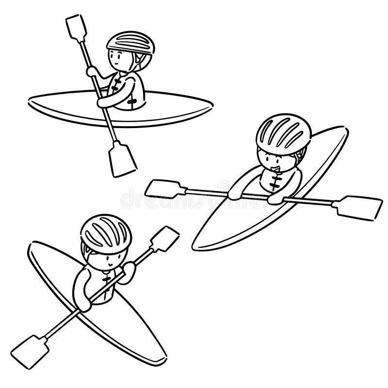 Kayak Stock Illustrations