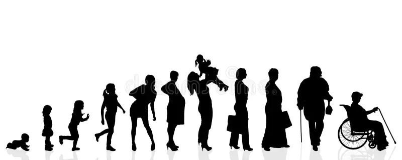 Vector Silhouette Generation Women. Stock Vector