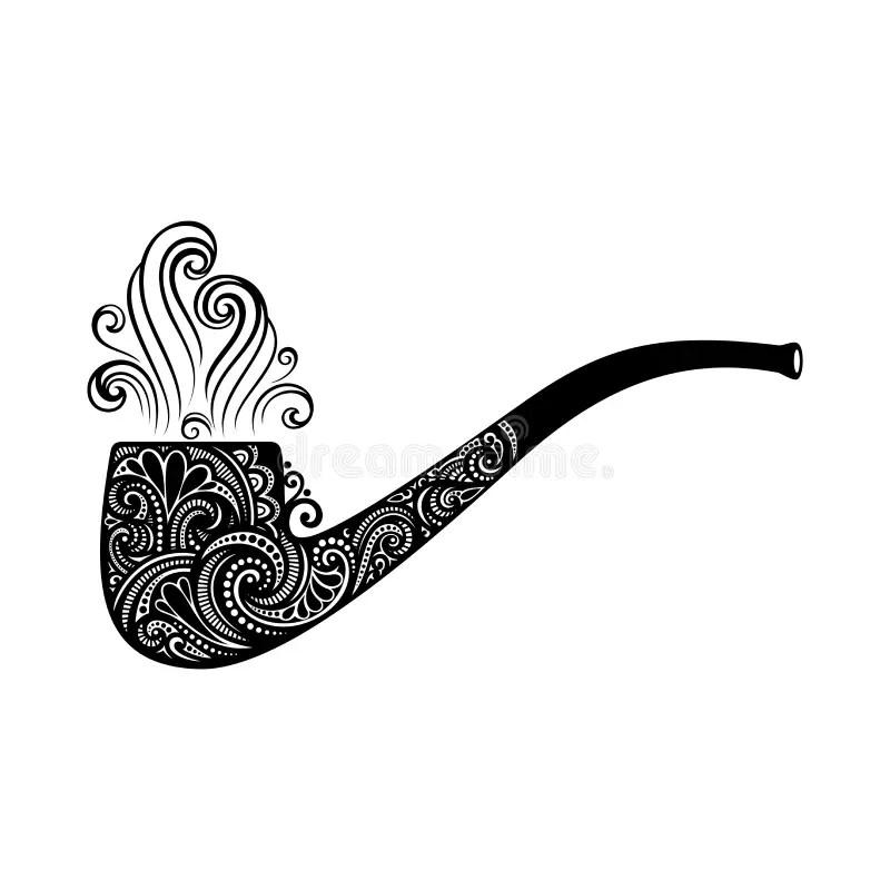 Vector St. Patrick's Day Symbol, Tobacco Pipe Stock Vector
