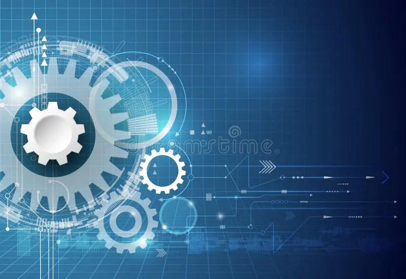 Vector Technology Background Illustration Gear Wheel