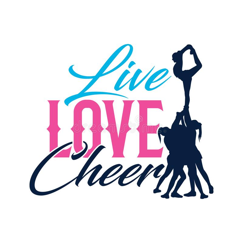 Download Vector Typo Live Love Cheer Silhouette Stock Vector ...