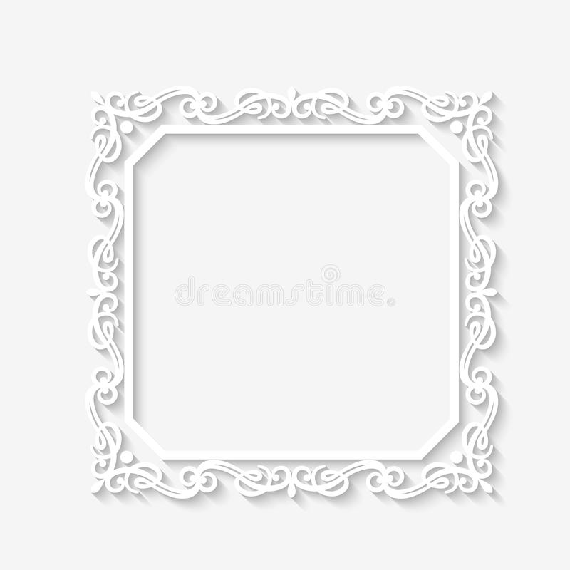 Vector Vintage Baroque White Frame Stock Vector