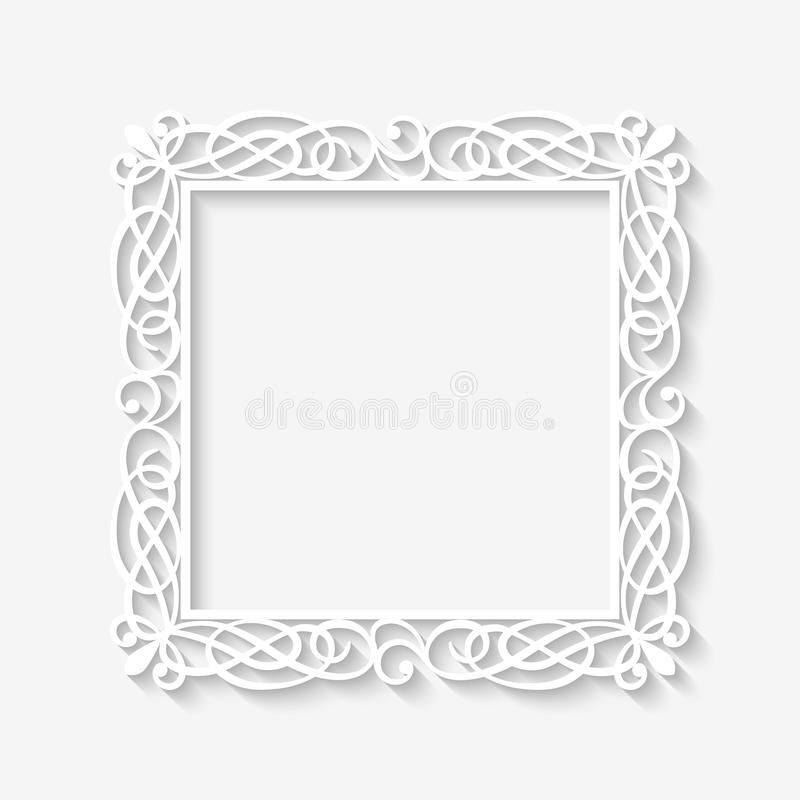Vector Vintage White Frame Background Stock Vector