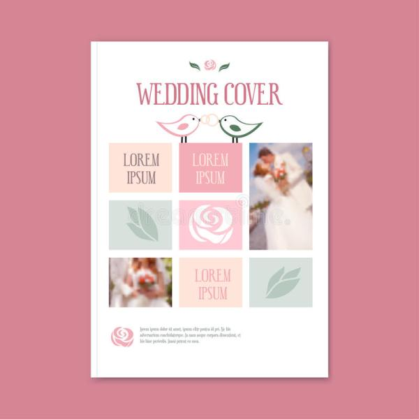 Vector Wedding Template Cover Booklet. Stock - 70820055