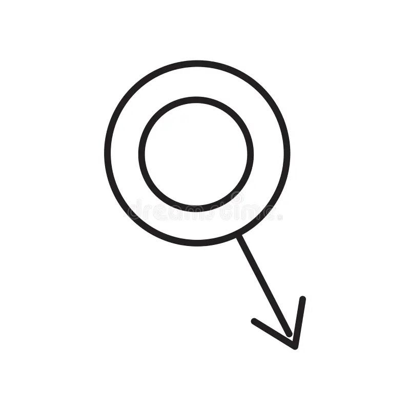 Segno Maschio E Simbolo Di Vettore Dell'icona Del Segno Di