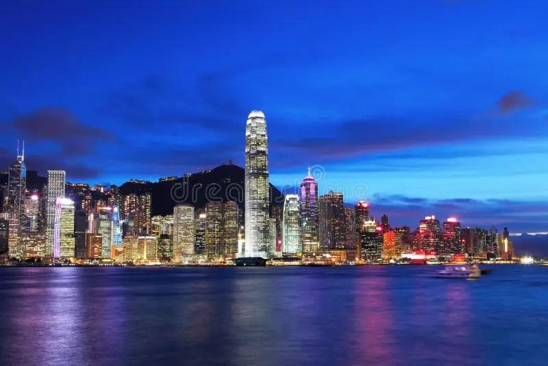 Victoria Harbor Of Hong Kong Stock Photo - Image of marina. city: 30716908