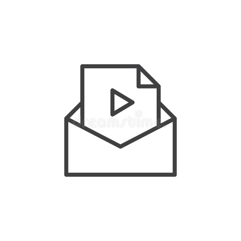 Email Envelope Letter Mail Media Message Send Video Icon