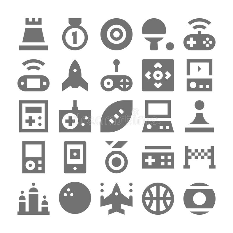 Video Game Vector Icons 5 stock illustration. Image of