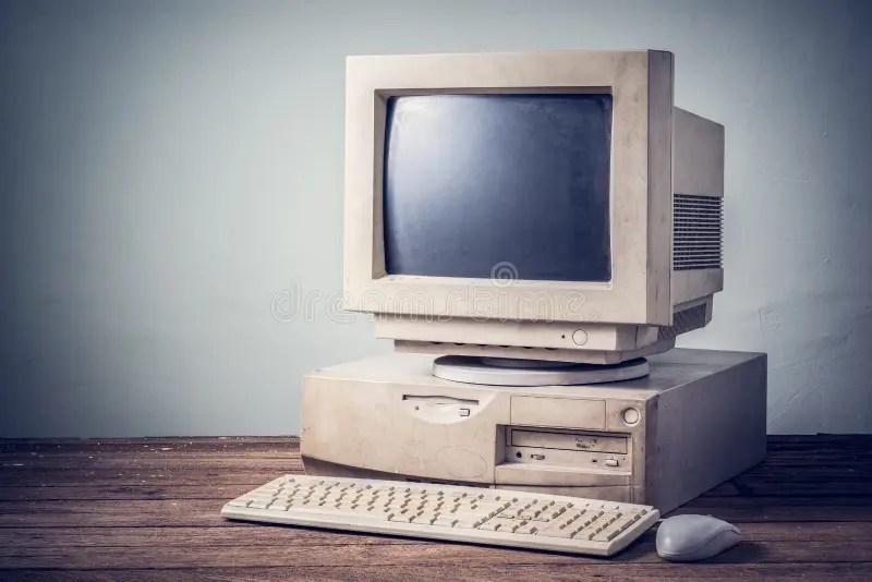 vieil ordinateur vintage image stock
