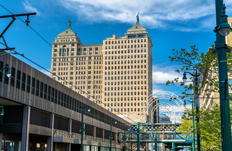 View Of The Liberty Building In Buffalo - NY. USA. Built In 1925 In The Neoclassical Style Stock Photo - Image of place. skyline: 95112416