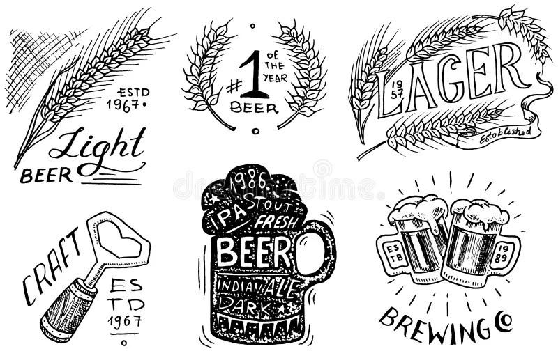 Vintage Beer Label Stock Illustrations