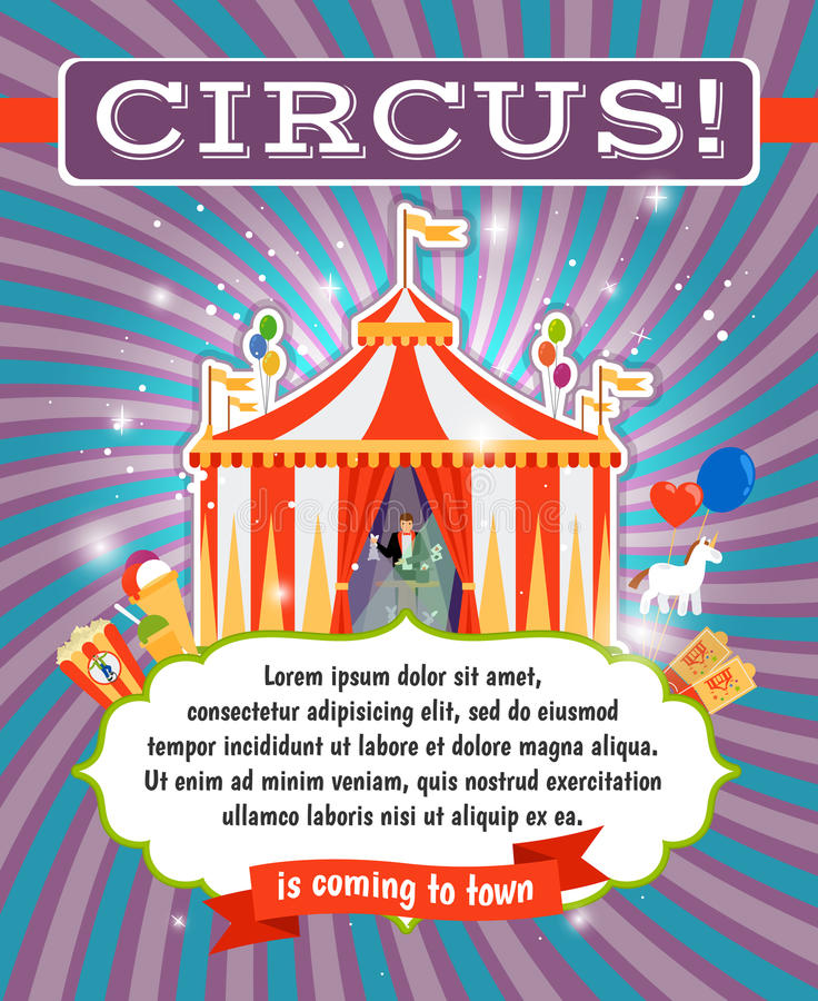 Vintage Circus Poster Template Stock Vector Image 56922958