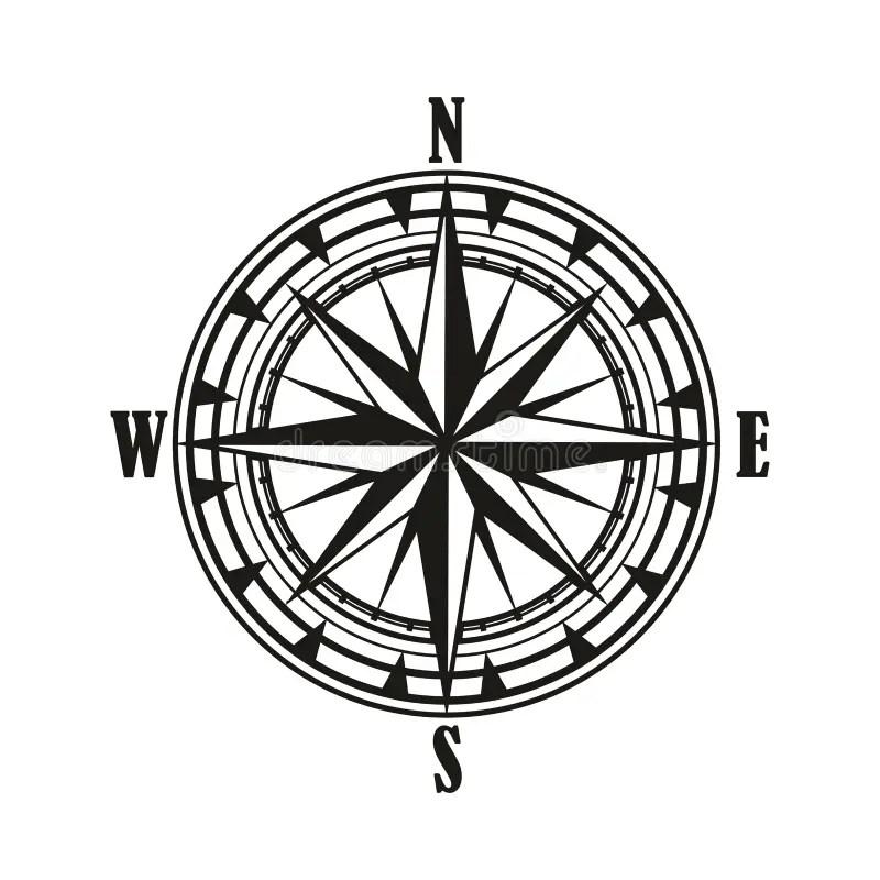 Diagram Compass Rose. For Navigation, Orientation. Stock