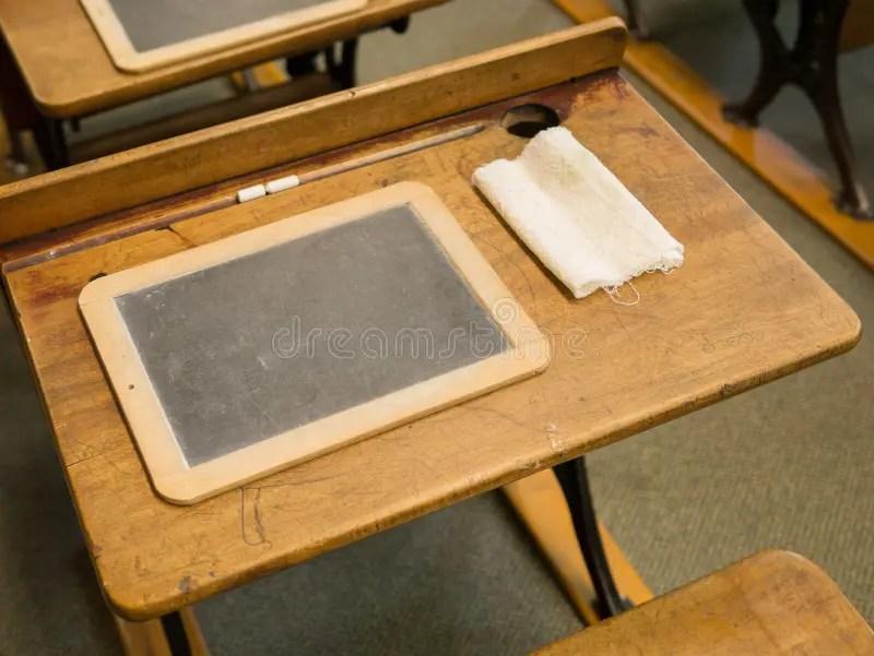 Vintage School Desk And Slate Stock Photo  Image 31790486